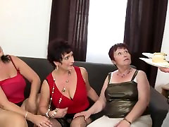 Taboo group sex with school ladyboy shemale moms and granny