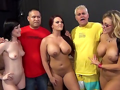 Incredible pornstars Jennifer White, Mackenzee Pierce and Nikki Sexx in fabulous big tits, deep throat sex scene