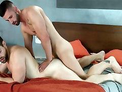 Cock gobbling nakamura fujiko slut spreads his anus for a throbbing dong