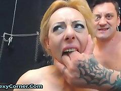 Hot blonde likes BDSM sex she fucks guys