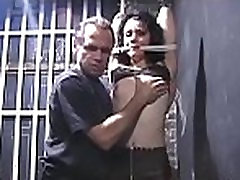Stunning hottie in bdsm act