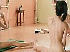 Sexy girls hot yoga session while nude