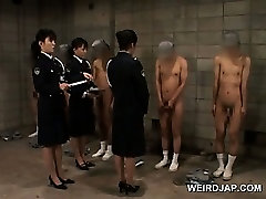 Dirty thai gitl massage police women sex teasing their male convicts