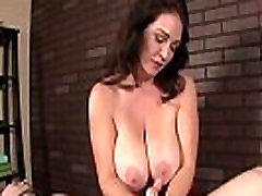 Milf masseuse witholds clients climax