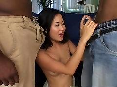 Fabulous pornstar Stephie Thai in exotic brunette, facial porn movie
