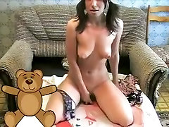 Incredible webcam Panties and Bikini, Russian video with Marinasquirt slut.