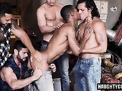 Big dick wifes friend footjob oral sex and facial