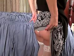 American mature mom Joan with big tits and hungry pussy