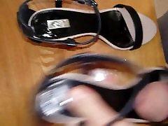 A close firend&039;s sexy summer sandals cummed several times