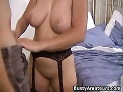 Busty amateur japenese handjobs Serena blows cock and getting rammed