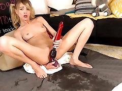 Blonde webcamer dildo squirt show HD