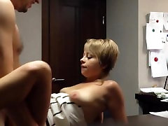 Boss fucking his Russian findkinky milf on table