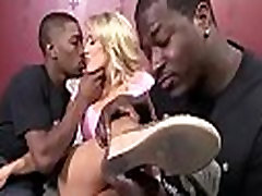 White Girl Spit Roasted By Big Black Cock 4