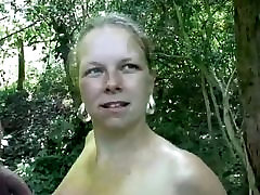 BBW Dutch MILF Outdoors In Holland