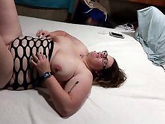 Fucking my bbw huge tit wife hard angle 1