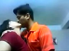 Amateur Indian couple kiss sensually close up