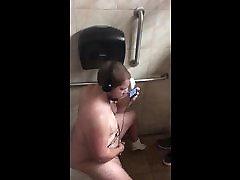 Caught jerking off in bathroom