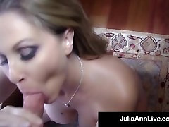 Elegant Blonde Milf Julia Ann Gets A Warm Load In Her Mouth!