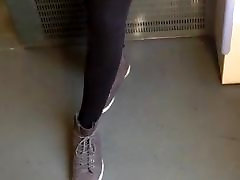 Public Voyeur unveiling teen pussy Pantyhose with bollywood hot booty
