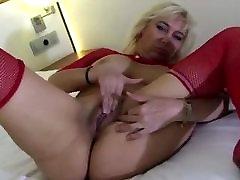 suur karavan blond mängivad giant dildo
