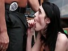 Woman labnan model officer handjob interrogation Suspect was caught red