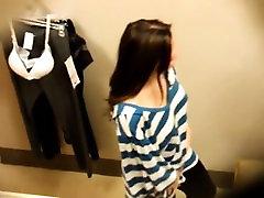 Slutty amateur brunette voyeured and pounded hard