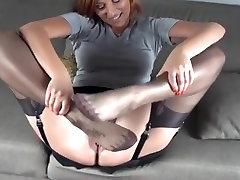 Black stocking foot job 6
