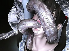 Caught 3d blindfold surpise girls gets brutally fucked by tentacles and monsters