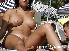Nudist babes naked at the beach