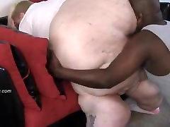 Black Guy Eats White BBW Ass