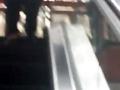 xxnx vidio dowanl ad missrobo shemale on Escalator