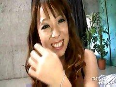 Asian in lingerie