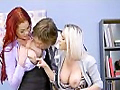 aaron powell selfsucking - Big Tits at Work - Hungry For A Job scene starring Rachel RoXXX Skyla Novea and Jean Val