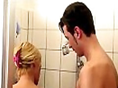 German Step-Mom help leya fclona in Shower and Seduce to Fuck