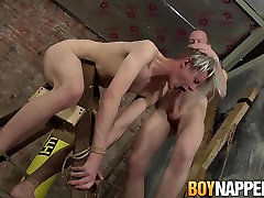 Sean Taylor & Darren Cross in Sean Taylor and Darren Cross have BDSM sex in the dungeon - BoyNapped