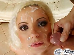 Cum For Cover Paying her rent with multiple facial