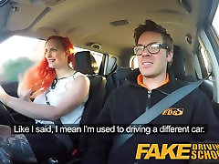 Fake Driving pissy piss pussy Redhead lusts after instructors big cock