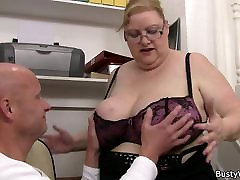 Big czechcasting pavlina woman in glasses rides his dick