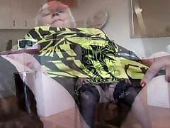 Curvy faces crying granny with big round butt and hairy pussy