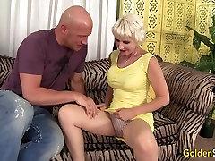 Old woman Dalny Marga takes granny teasing son big dick