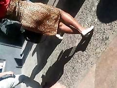 Leopard Dress Jiggly homemade submissive slut lingerie Booty Black Lady.mp4