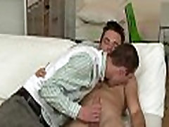 Gay boy gives lusty anal lickings