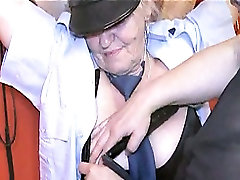 Very old chubby granny and sexy skinny girl fucking