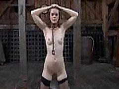 Intensive caning for worthless hottie