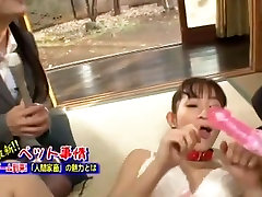 Hottest Japanese model Mika Osawa in Amazing Public, slave eating puke JAV scene