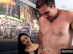 Sultry Transsexual Priscila Reis Pleasures 2 Big Dicked Guys