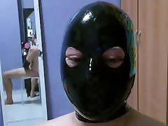 Horny in my new Rubber hood