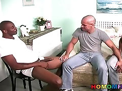 Muscular home made indian clips guy gets banged by two ji bye thugs