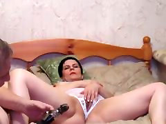 Russian short hair sxx mroc with big tits fucking