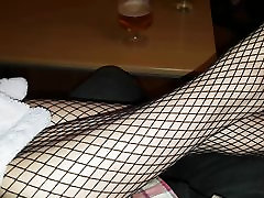 Black Fishnet Finale - 40 with Hot Toes